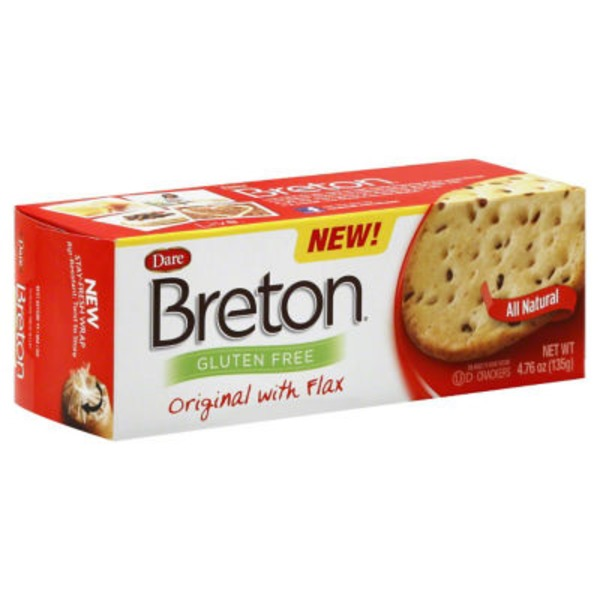 Dare Breton Gluten Free Crackers Original with Flax