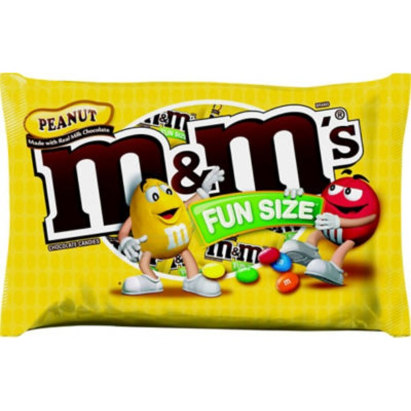 M&M's Chocolate Candies Peanut Fun Size