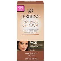 Jergens Natural Glow Healthy Complexion Daily Facial Moisturizer For Medium To Tan Skin Tones, 2 fl oz
