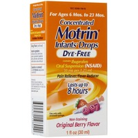 Motrin® Original Berry Flavor Dye-Free (SL) Infants' Drops - 6-23 Months Pain Reliever / Fever Reducer