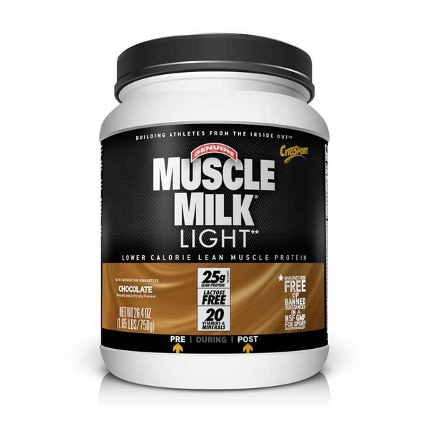 Muscle Milk Low-Fat Protein Powder Chocolate