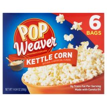 Pop Weaver Kettle Corn Microwave Popcorn, 6 count, 14.04 oz