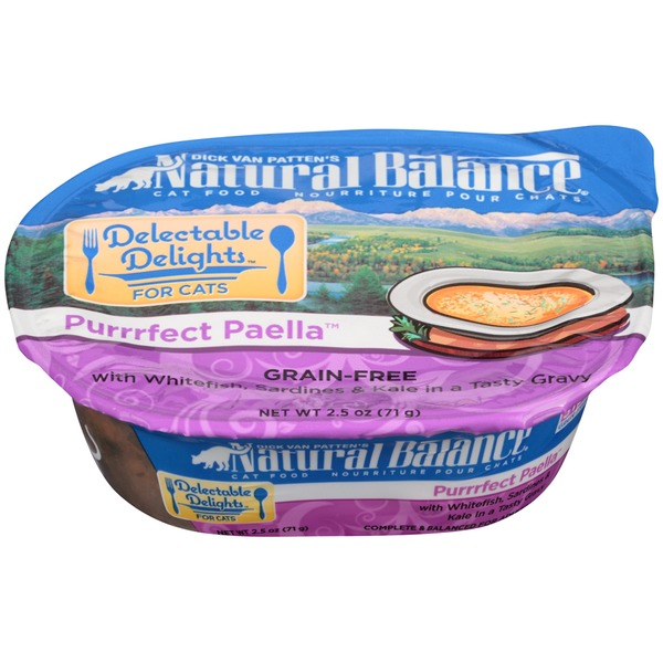 Natural Balance Delectable Delights Purrrfect Paella Grain-Free with Whitefish Sardines & Kale in a Tasty Gravy Cat Food
