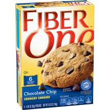 Fiber One Chocolate Chip Crunchy Cookies, 5.52 oz, 0.92 OZ