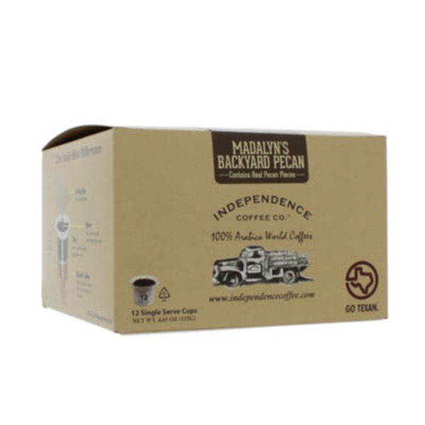 Independence Coffee Co Indie Shot Madalyn's Backyard Pecan Single Serve Cups
