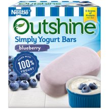 Outshine Blueberry Simply Yogurt Bars, 4 ct, 10.2 fl oz