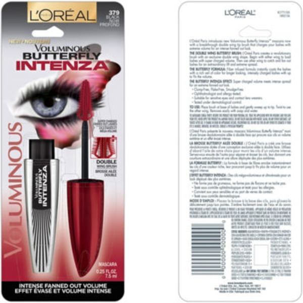 Voluminous Butterfly Intenza 379 Black Mascara