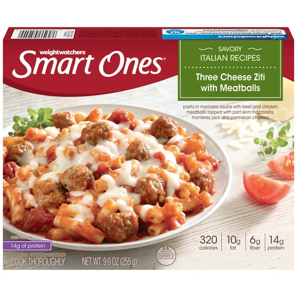 Weight Watchers Three Cheese Ziti with Meatballs Savory Italian Recipes