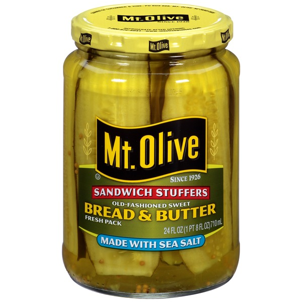 Mt. Olive Sandwich Stuffers Old-Fashioned Sweet Bread & Butter Fresh Pack Pickles