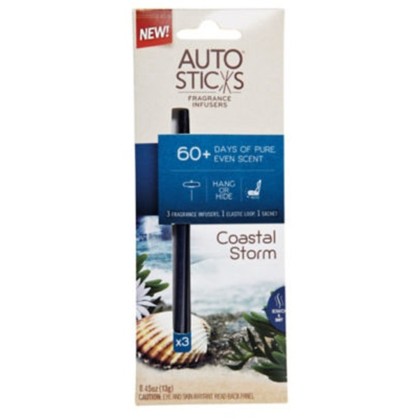 Enviroscent Auto Sticks Fragrance Infusers, Coast Storm