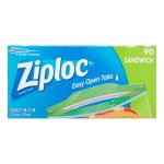 Ziploc Pinch & Seal Sandwich Bags, 90 Ct