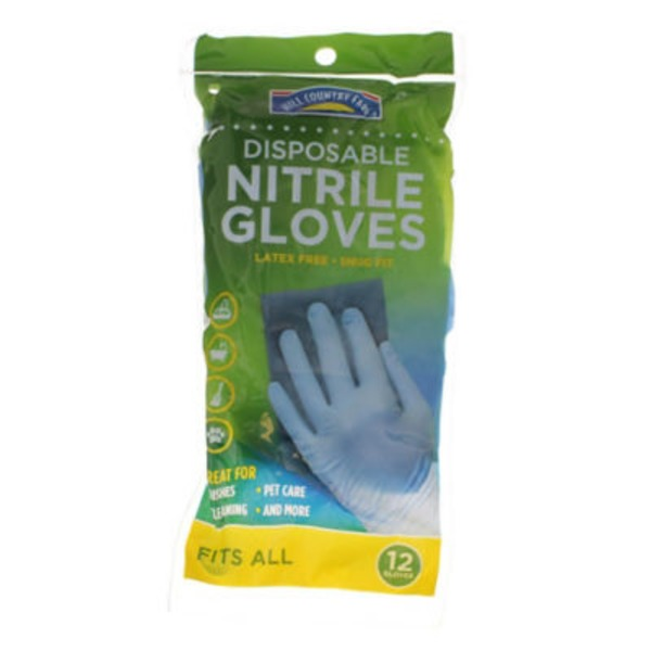 Hill Country Fare Disposable Nitrile Gloves