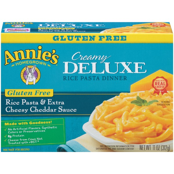new style 1d164 84d3e Annie s Homegrown Gluten Free Rice Pasta   Extra Cheesy Cheddar Sauce Mac    Cheese Creamy Deluxe