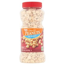 Great Value Dry Roasted Unsalted Peanuts, 16 oz