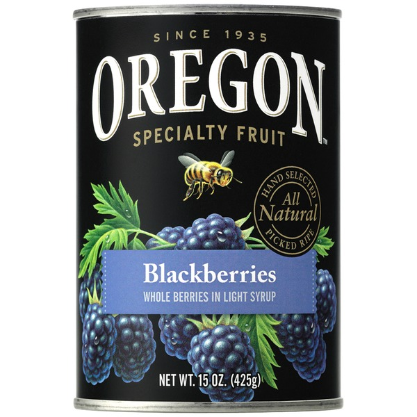 Oregon Fruit Products in Light Syrup Blackberries