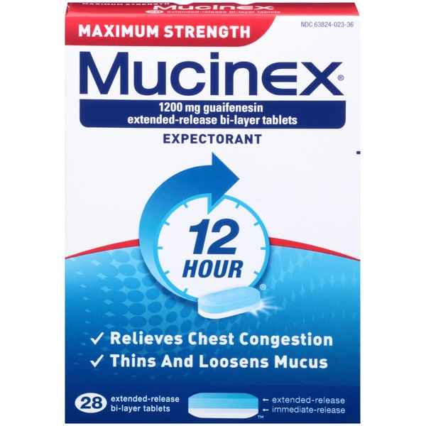 Mucinex 12 Hour Maximum Strength Extended-Release Expectorant