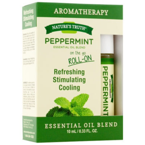 Nature's Truth Organic Aromatherapy On The Go Roll-On Peppermint Essential Oil Blend