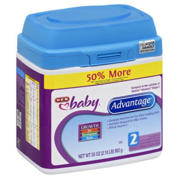 H-E-B Baby Advantage Iron Fortified Powdered Infant Formula