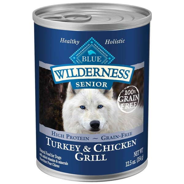 Blue Buffalo Food for Dogs, Natural, Senior, Turkey & Chicken Grill