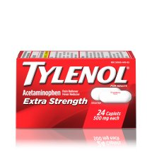 Tylenol Extra Strength Caplets, 500 mg, 24 Ct