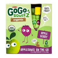 Materne GoGo Squeez Organic Applesauce On The Go Apple Berry - 4 CT