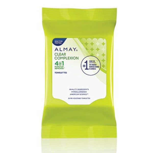 Almay Purifying Towelettes, 4 in 1 Makeup Remover