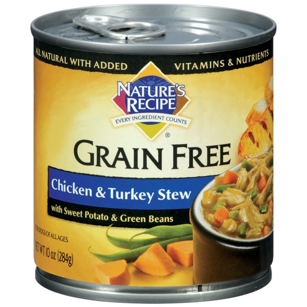 Nature's Recipe Grain Free Chicken & Turkey Stew Dog Food