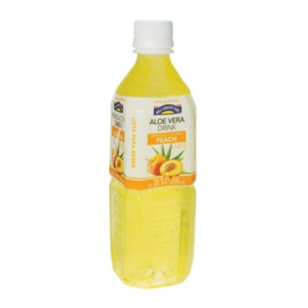 Hill Country Fare Aloe Peach Drink