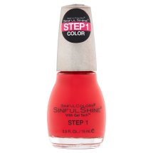 SinfulColors SinfulShine Step 1 Color Nail Color, Picante, 0.5 fl oz