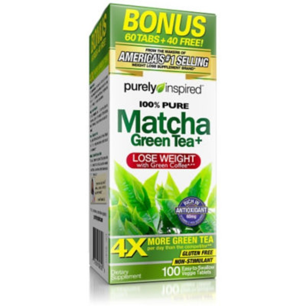 Purely Inspired 100% Pure Matcha Green Tea Weight Loss Capsules