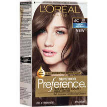 L'Oreal Paris Superior Preference Cools Anti-Brass Hair Color Kit 6C Cool Light Brown
