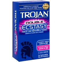 Trojan Double Ecstacy Lubricated Latex Condoms - 10 ct