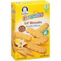 Gerber Graduates Lil' Biscuits, Vanilla Wheat, 4.44 oz