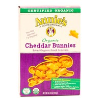 Annie's Homegrown Organic Cheddar Snack Crackers Cheddar Bunnies