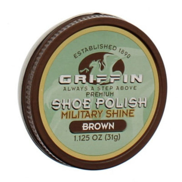 Griffin Premium Shoe Polish Military Shine Brown