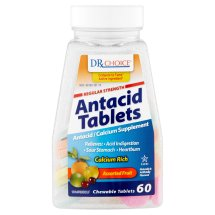 DRX Choice Antacid Tablets Assorted Fruit Chewable Tablets, 60 count