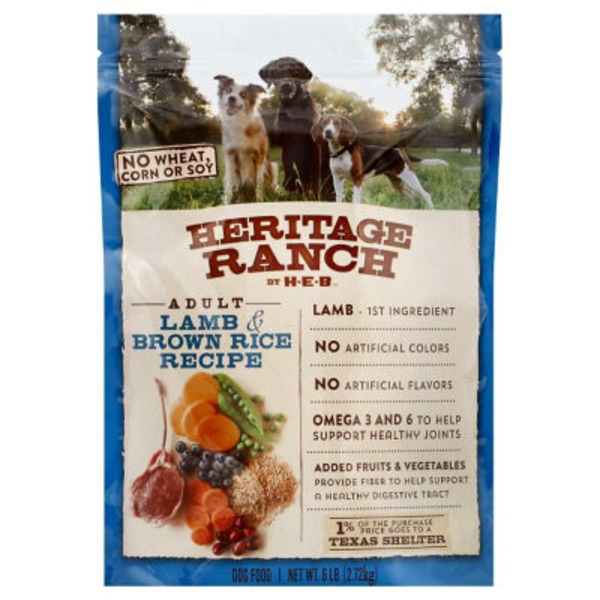 Heritage Ranch Lamb & Rice Dog Food