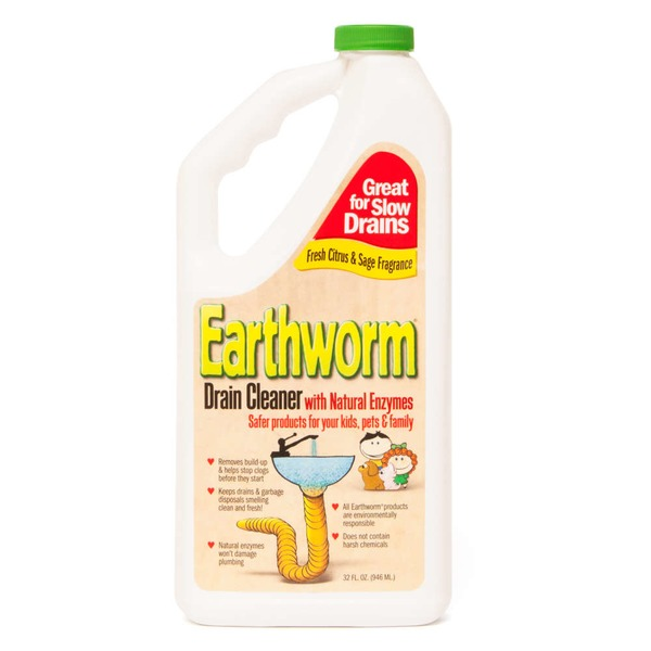 Earthworm Family-Safe Drain Cleaner