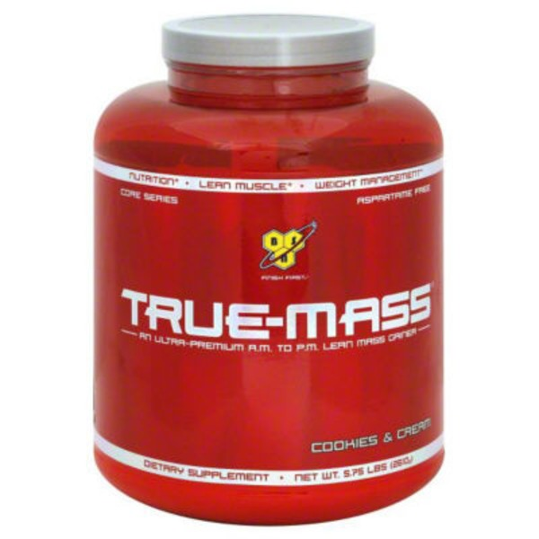 BSN True Mass Cookies And Cream Ultra Premium AM To PM Lean Mass Gainer