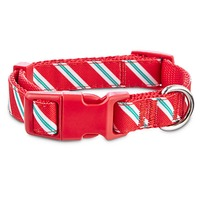 Large Holiday Candy Cane Adjustable Collar
