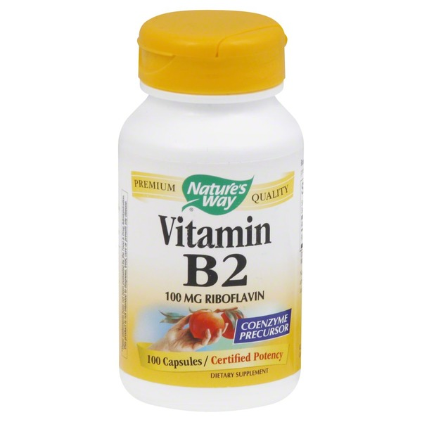 Nature's Way Vitamin B2, 100 mg Riboflavin, Capsules
