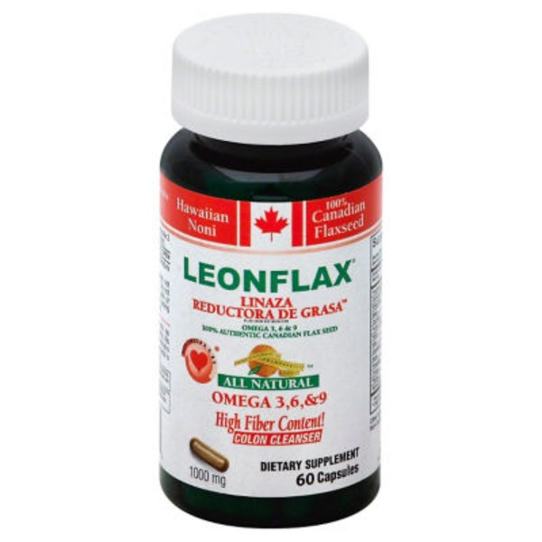 Leonflax Flax Seed, 100% Authentic Canadian, Capsules, All Natural, Pouch