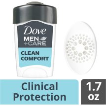 Dove Men+Care Clinical Clean Comfort Antiperspirant Deodorant Stick 1.7 oz