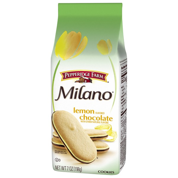 Pepperidge Farm Cookies Milano Lemon Flavored Chocolate Cookies