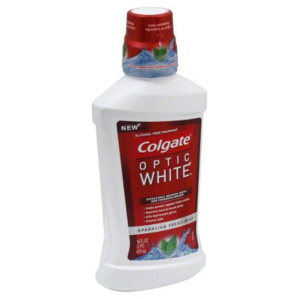 Colgate Optic White Multi-Care Whitening Rinse Icy Fresh Mint