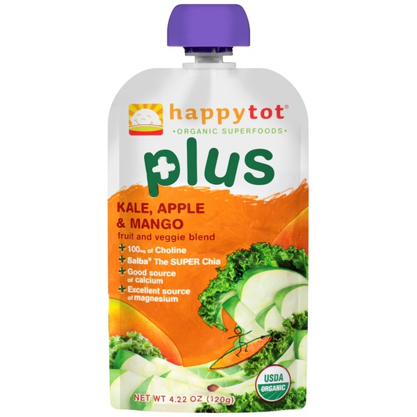 Happy Tot Plus Kale, Apple & Mango Fruit and Veggie Blend Snack
