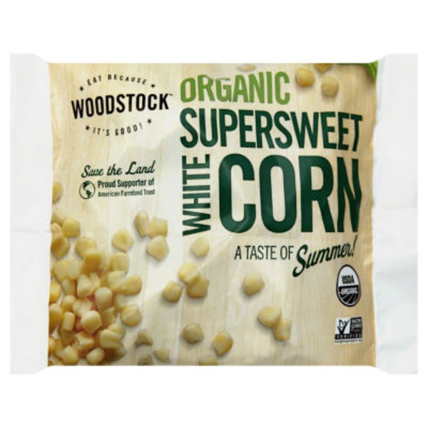 Woodstock Farms Corn, Organic, White Supersweet