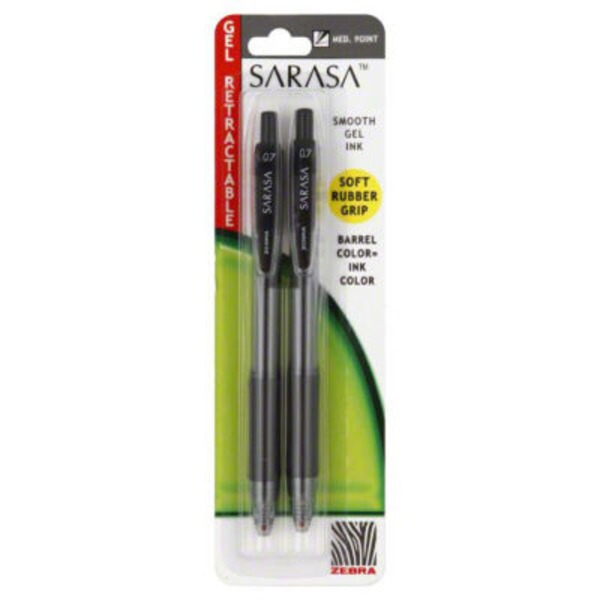 Zebra Gel Retractable Pen Medium Point 0.7 mm -  Black Ink