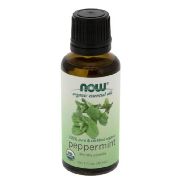 Now Organic Essential Oils, Peppermint, Bottle
