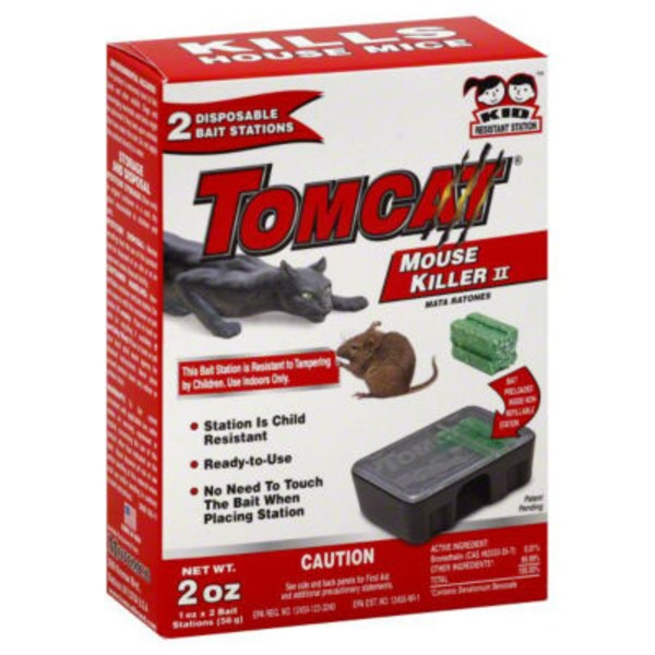 Tomcat Mouse Killer II Disposable Bait Stations Kills House Mice